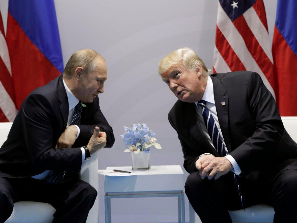 Доверие путин и Трамп