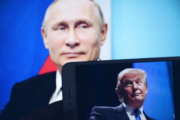 Саммит в Хельсинки, Путин и Трамп, рукопожатие