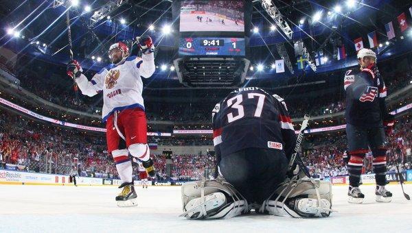 ЧМ по хоккею, Россия-США, счет, кто забил