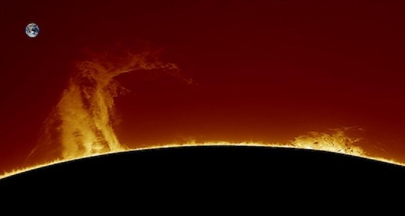 Гигантский протуберанец на Солнце удалось запечатлеть астроному-любителю