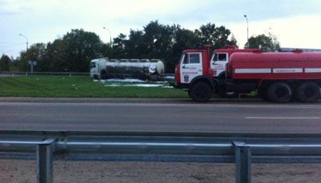 На трассе «Дон» разлилось 8 тонн взрывоопасного ядохимиката