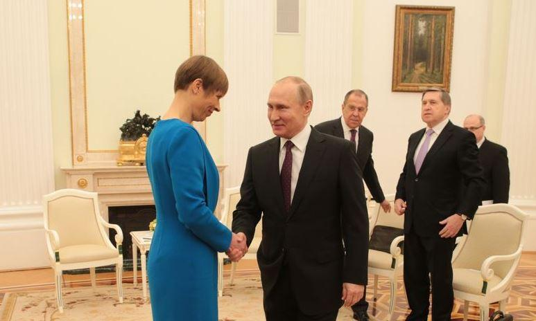 Владимир Путин встретился в Москве с президентом Эстонии Керсти Кальюлайд