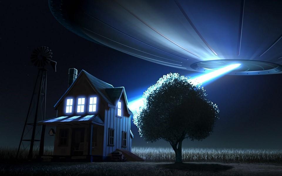 Мерцающий НЛО навис над графством Сомерсет