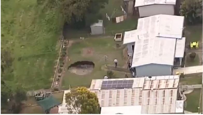 В Австралии образовалась воронка с водой