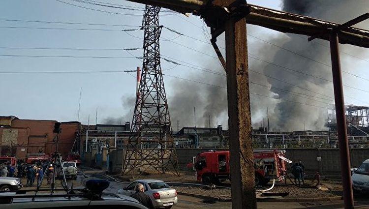 """пожар на заводе """"Электроцинк"""""""