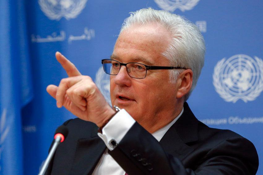 Чуркин ответил на выпад госсекретаря США в адрес Лаврова