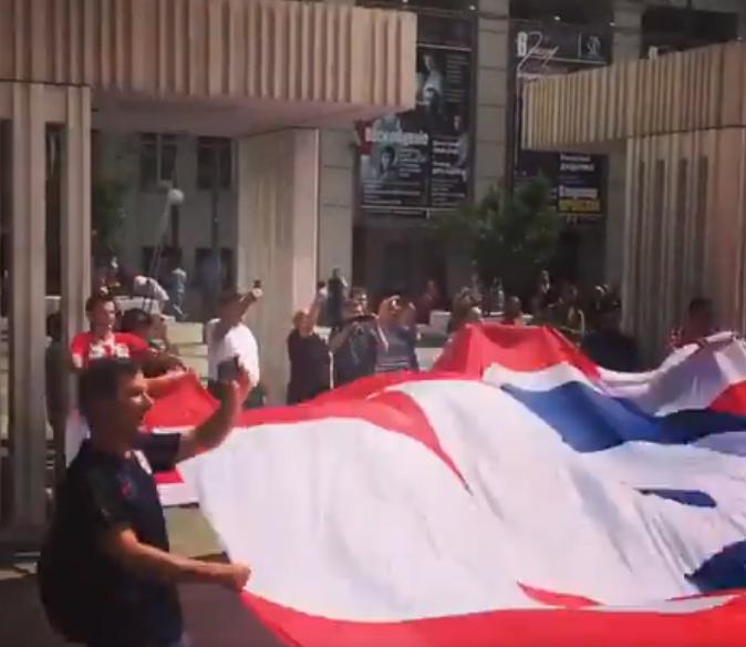 Болельщики сборной Хорватии: «Спасибо, Россия!»