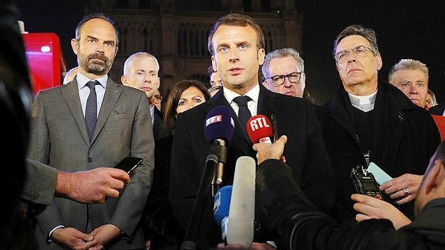 Макрон пообещал восстановить собор Парижской Богоматери