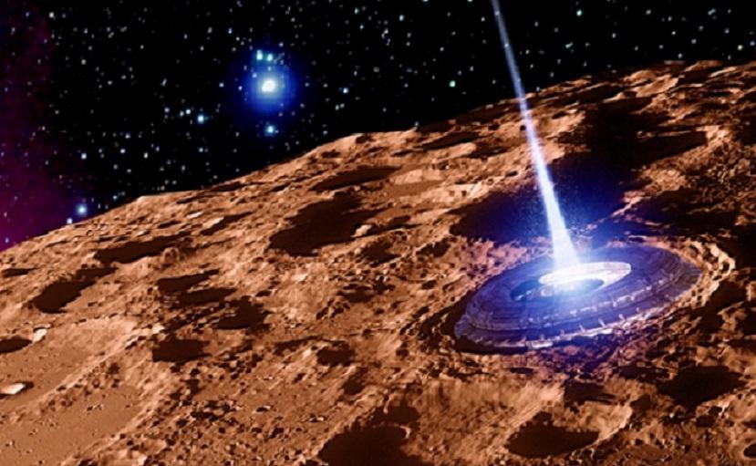 Подземный космодром инопланетян обнаружили уфологи на Марсе