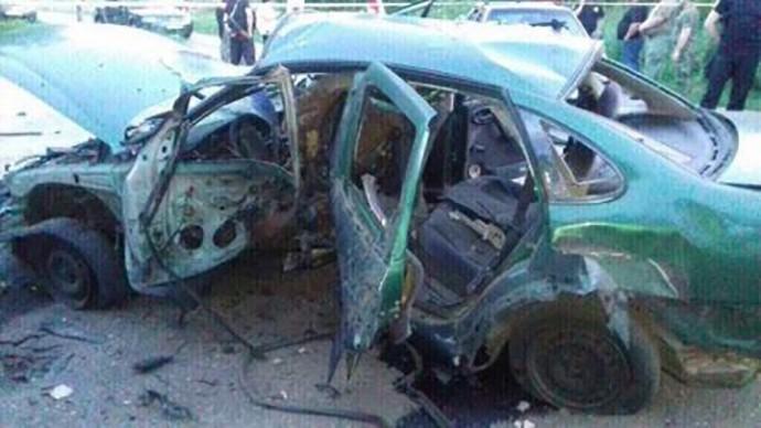 Автомашина ссотрудниками СБУ подорвалась намине вДонбассе