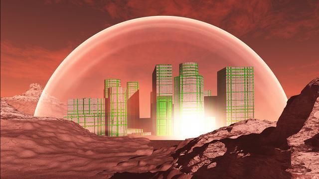 На Марсе уфолог обнаружил здание протяженностью около двух километров