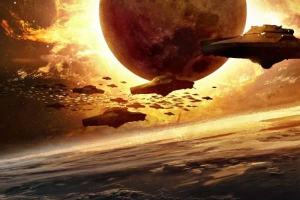 Целый флот НЛО патрулировал Роттердам под прикрытием кровавой Луны
