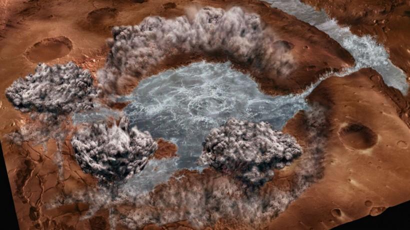 Наповерхности Марса отыскали  пресноводное ипригодное для питья озеро