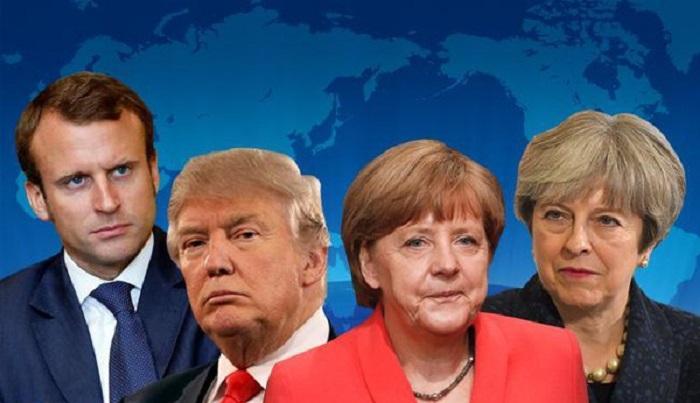 Трамп, Меркель, Мэй, Макрон