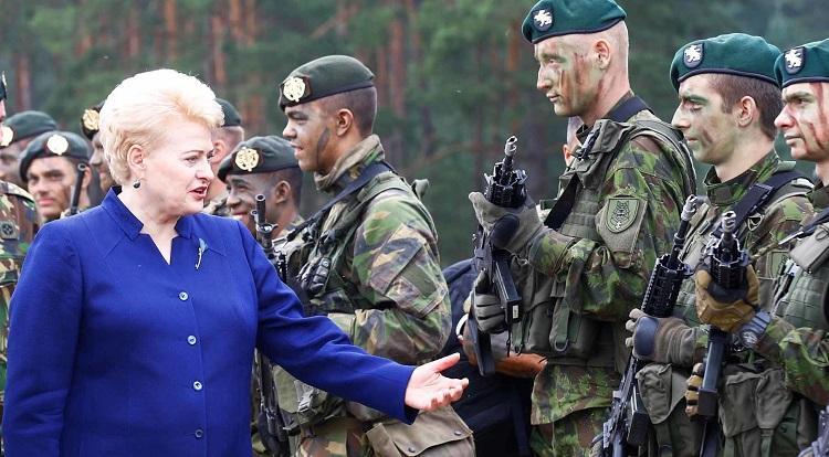 Грибаускайте и армия