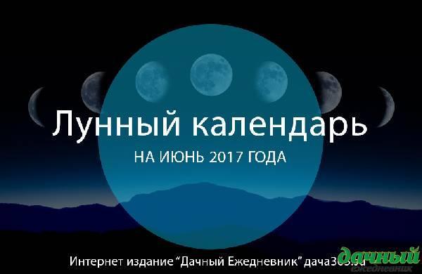 Лунный посевной календарь на июнь 2017: таблица благоприятных дней для посадки рассады и семян