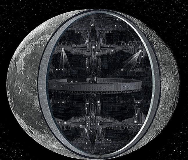 Сенсационное открытие ученых: Луна— полая иизобилует базами пришельцев