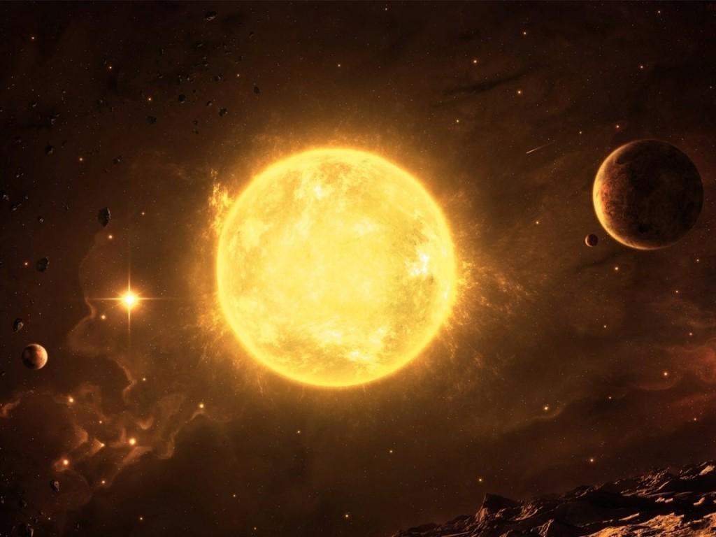 Около Солнца замечен гигантский корабль инопланетян в форме стержня