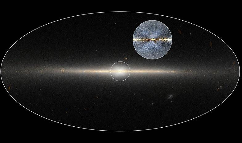 Гигантский крест в центре нашей Галактики обнаружили ученые