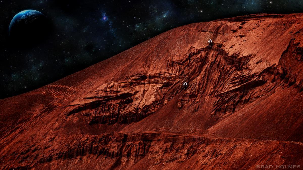 Фото космос вулкан олимп на марсе