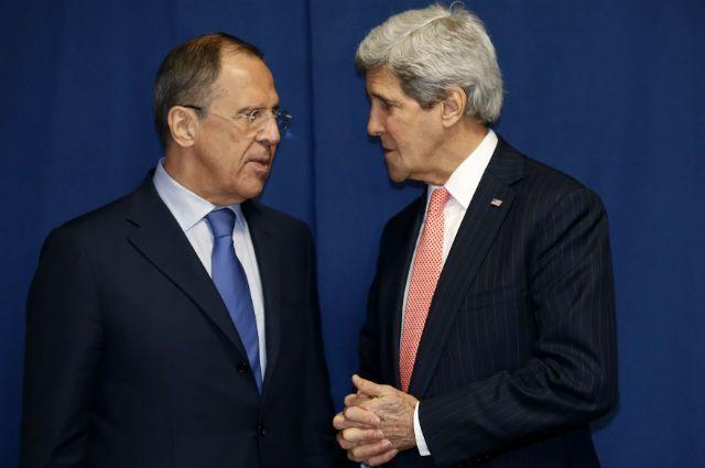 Лавров и Керри на переговорах в Москве
