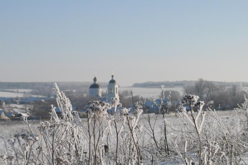 Православный храм, изморозь