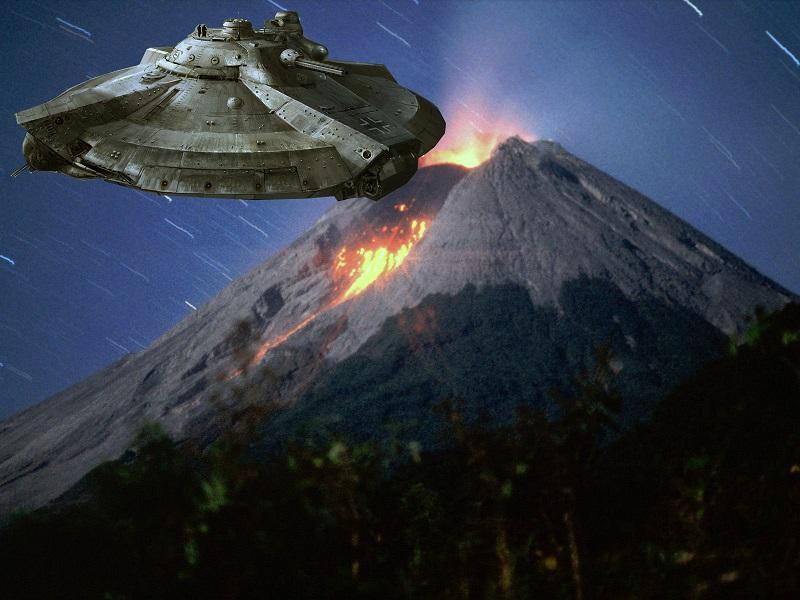 Хронику появления НЛО над вулканами обнародовало телевидение Мексики