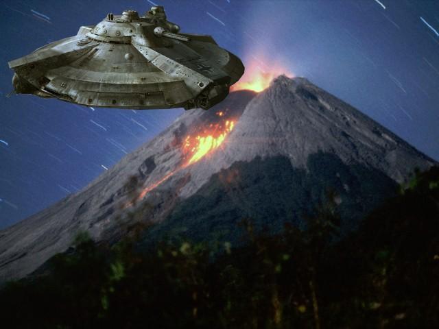 НЛО посетил подземную базу пришельцев, расположенную под вулканом Колима