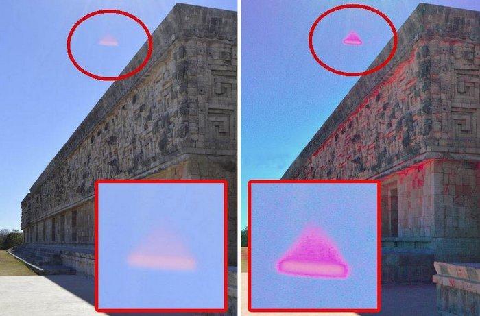 Над древним мексиканским городом завис пирамидальный НЛО