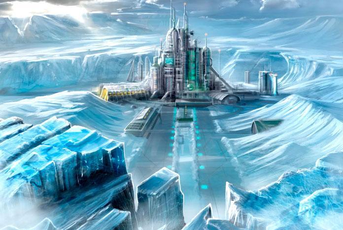 Уралец увидел вснегах Антарктиды огромный корабль пришельцев