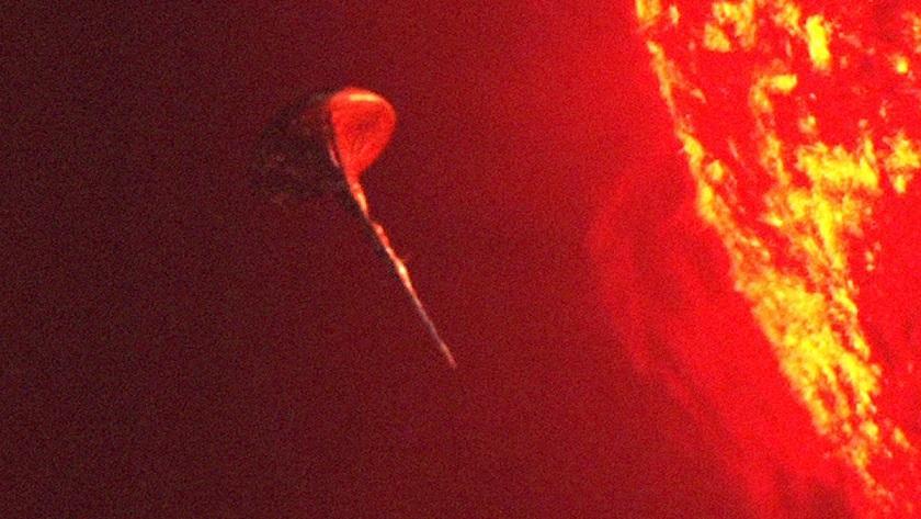 Инопланетный корабль заряжается энергией от Солнца: новое  видео получено лабораторией NASA