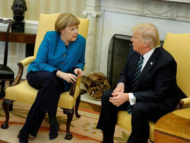 Встреча Трампа и Меркель