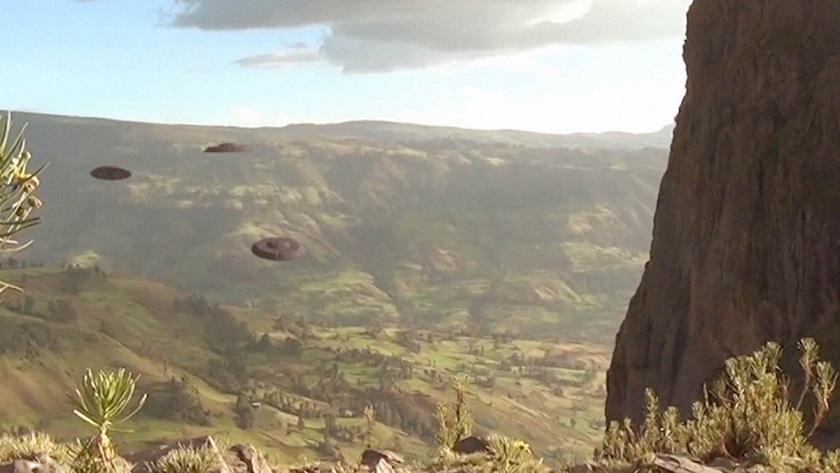 Флот НЛО пролетел над святым городом Лалибела в Эфиопии