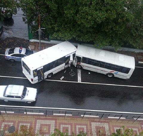 ДТП с автобусами в Туапсе