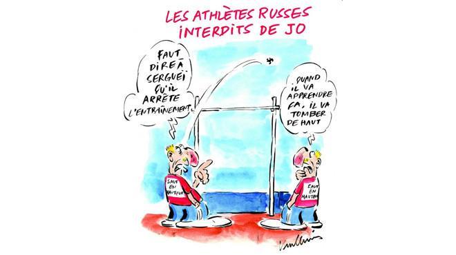 Charlie Hebdo жестоко посмеялся над российскими спортсменами, отстраненными от Олимпиады в Рио