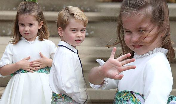 принц Джордж и принцесса Шарлотта на свадьбе