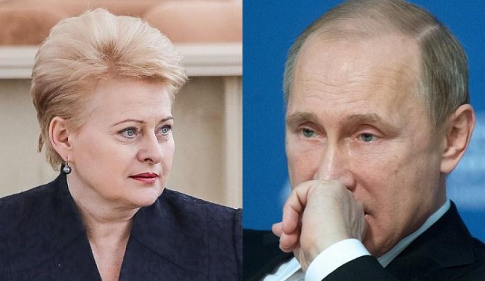 Путин и Грибаускайте