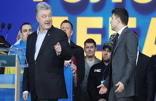 Порошенко в беседе с Помпео подверг осуждению высказывание Зеленского на дебатах о Донбассе