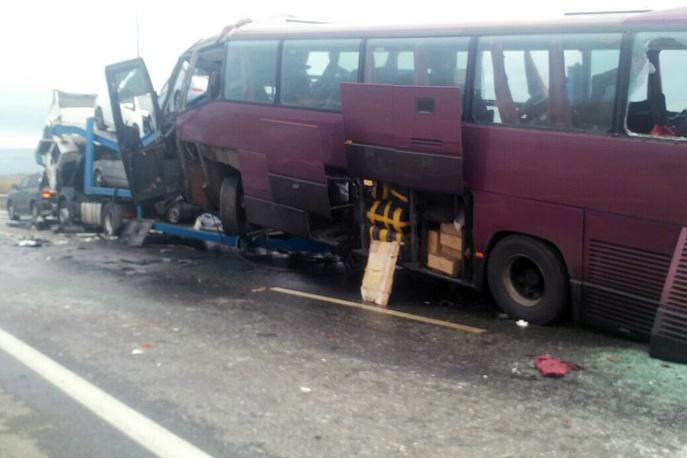 ДТП с автобусом в Северной Осетии