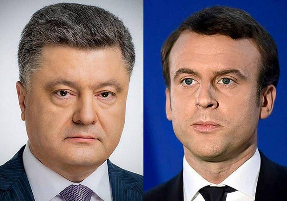 Перед визитом в Москву Макрон выставил срочное требование Порошенко по Донбассу