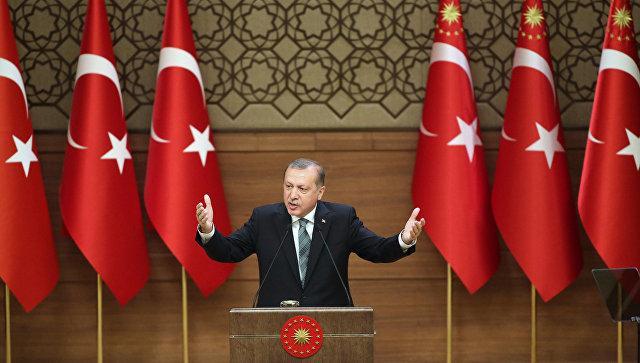 Эрдоган обвинил Запад в поддержке участников попытки госпереворота