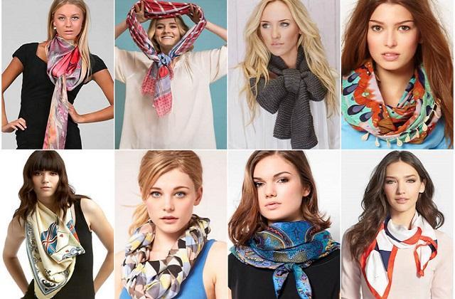 Как завязать платок: как красиво завязать платок на голове или шее, фото и видео