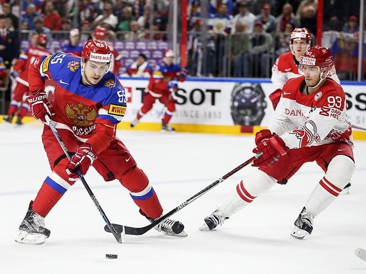Сборная Российской Федерации похоккею сыграет против датчан начемпионате мира