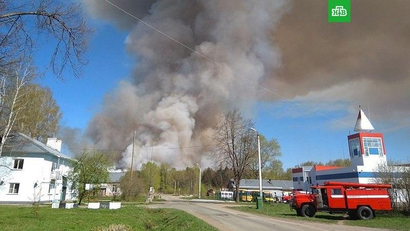 В Удмуртии из-за крупного пожара эвакуировали детский санаторий