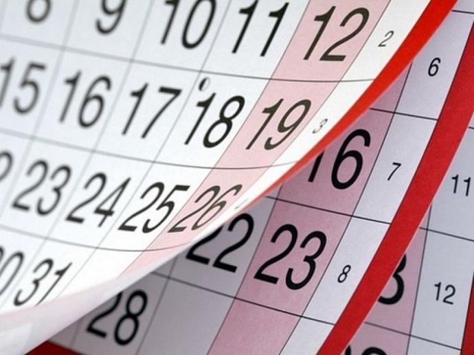 Календарь выходных дней 2019