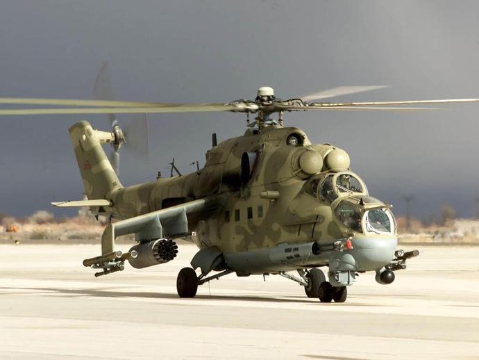ВСирии погибли двое пилотов русского боевого вертолета