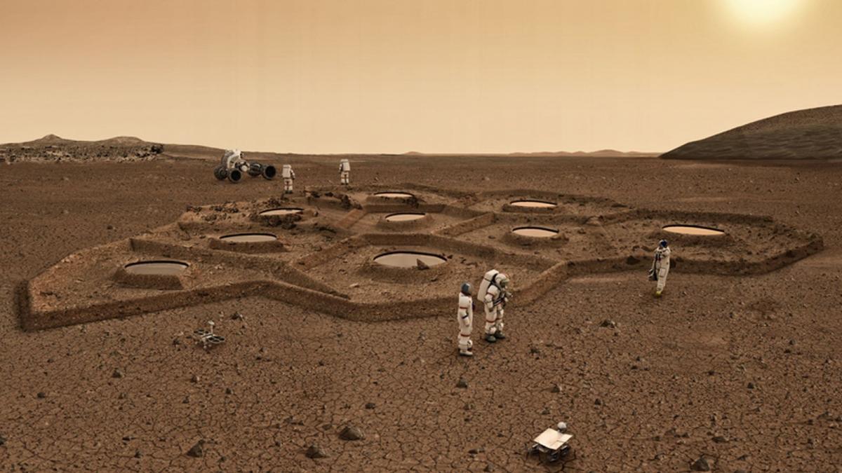 НаМарсе найдены ступеньки разрушенного здания