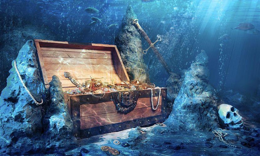 Найдены пиратские сокровища, которые находятся под водой