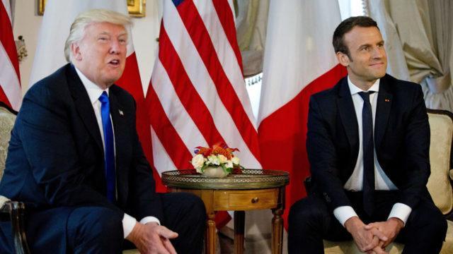Президенты Франции и США встретились в Елисейском дворце