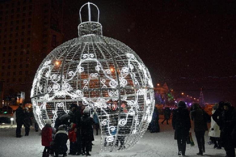 На улицах Ставрополя установлены новогодние арт-объекты